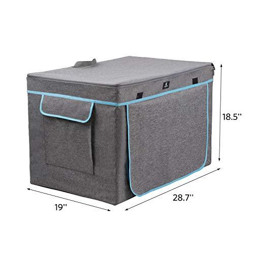 X-ZONE PET Jaula de viaje para gato, condominio portátil para gatos sin estrés con diseño de perreras grandes, colección de cama para gatos, cajón interior y exterior para mascotas