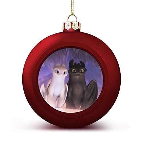 Christmas Balls How to Train Your Fantasy Dragon Xmas Ball Ornaments Lightweight Hanging Balls Tree Decorations