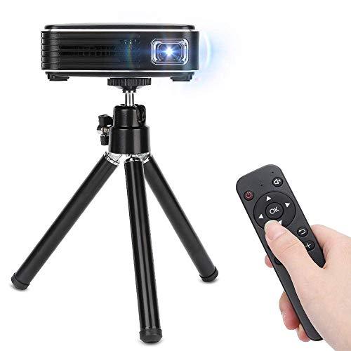 OHHG Mini Projektorbox, Mini Projektor, 1080P HD tragbarer Heimvideo DLP Projektor mit Stativunterstützung USB/HDMI/Speicherkarte/Festplatten Multimedia Videoprojektor TV Stick, Laptop, Smartphone