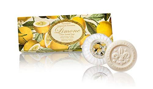 Zitronenseife, rund 3 St je 100g, handgemachte italienische Seife aus Fiorentino