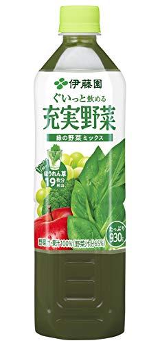 充実野菜 緑の野菜ミックス 930g×12本 PET