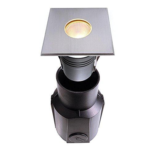 Spot extérieur encastrable sol à LED COB, rond, spannungskonstant, symétrique, 24 V DC, 5 W, acier inoxydable, 25 °, IP67, 3000 K EEK : A