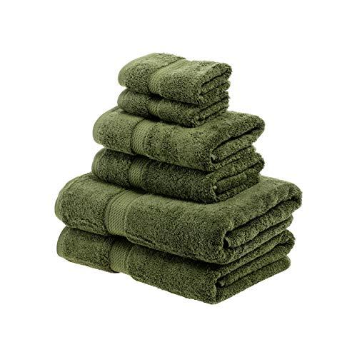 SUPERIOR Solid Egyptian Cotton 6-Piece Towel Set