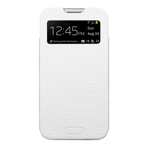 SPIGEN SGP Crumena View Leather Pouch Custodia per Samsung Galaxy S4, Bianco