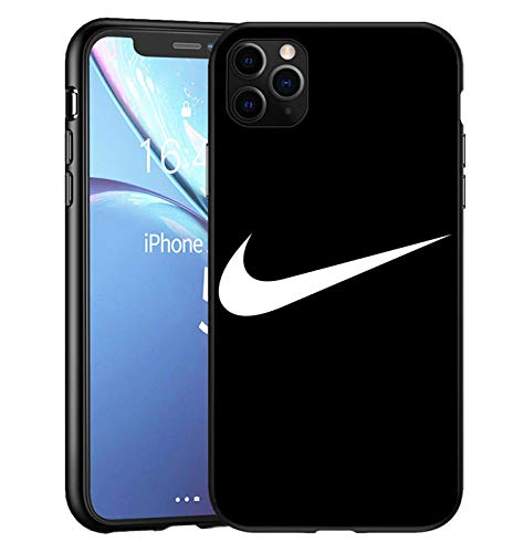Toxdi Just Do It Swoosh Logo iPhone 11 Pro Funda, Carcasa Silicona Protector Anti-Choque Ultra-Delgado Anti-arañazos Case Caso para Teléfono iPhone 11 Pro (Negro)
