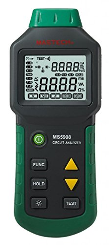 Mastech MS5908 Circuit Analyzer TRMS GFCI RCD Tester Messgerät für 220V Spannung
