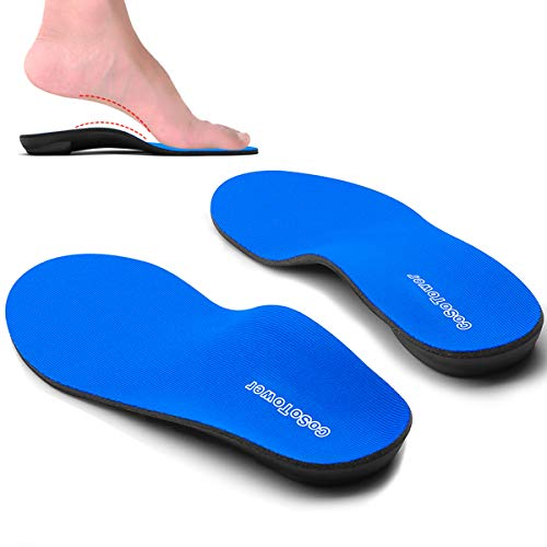 CoSoTower Orthotic Inserts High Arch Support Shoe Insoles Plantar Fasciitis Orthopedic Insole for Women Men Flat Feet Boot Insole for Heel Spurs Foot Pain Shin Splints Bunions Pronation Metatarsalgia