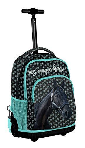 Mein Magic Horse Rucksack mit Rädern Trolley Girl Boy Middle School, Grundschule