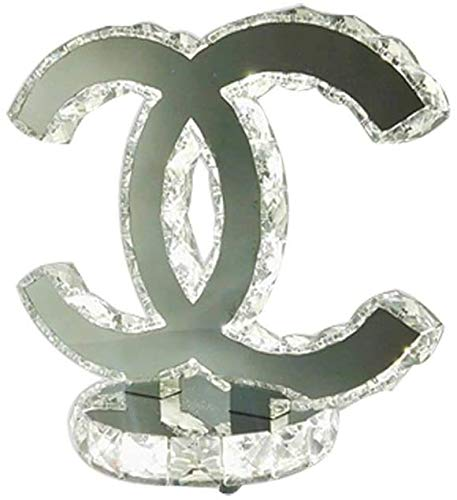 YSNJG LED tafellamp tafellamp met kristal roestvrij staal dubbele C creatieve woonkamer lamp, dubbele kleur, 26 * 24 cm