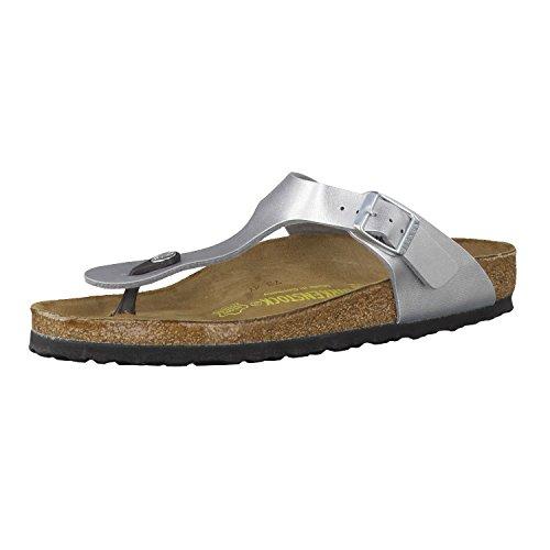 Birkenstock Women's GIzeh Thong Sandal, Silver, 39 M EU/8-8.5 B(M) US