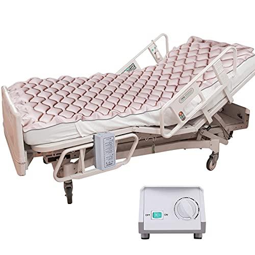 Medizinische Luftmatratze mit Wechseldruckmatratze, mit aufblasbarem Pad und elektrischem Pumpensystem zur Prävention von Dekubitus und Druckwunden Behandlung, passend für Standard-Krankenhausbetten
