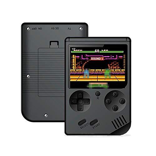Appareil de jeu portatif RS-6A Retro Portable Mini console de jeu portatif 8 bits 3.0 pouces couleur LCD enfants Color Game Player intégré 168 jeux (Noir)