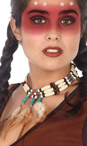 Atosa Collar de India con Plumas