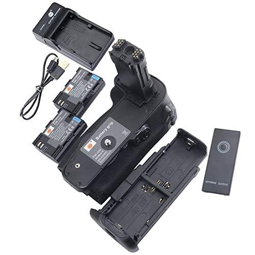 DSTE IR Remote BG-E20 Vertical Impugnatura Batteria + 2x LP-E6 Batteria + USB Caricabatteria per Canon EOS 5D Mark IV