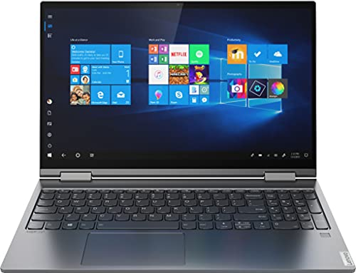 Lenovo Yoga C740 2-in-1 15.6' FHD Widescreen LED Multi-Touch Premium Laptop | 10th Gen Intel i5-10210U | 8GB RAM | 1TB SSD | Backlit Keyboard | Fingerprint | Windows 10 | with USB3.0 HUB Bundle