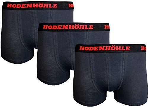 Hodenhöhle Boxershorts Herren Retroshorts 3er & 5er Packung Größe. S/M/L/XL Black schwarz (3, x_l)