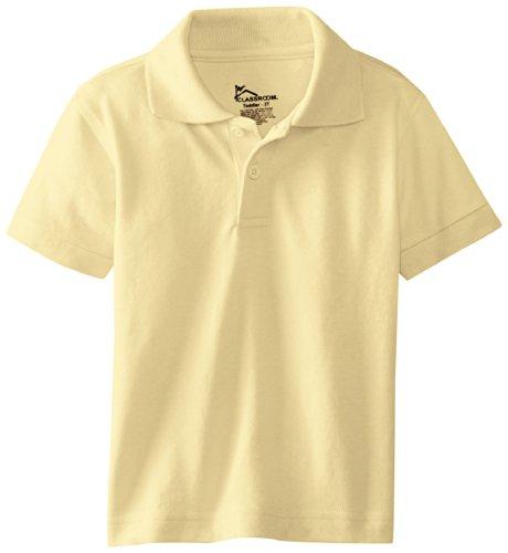 Classroom Little Boys' Toddler Short Sleeve Pique Polo, Yellow, 3T