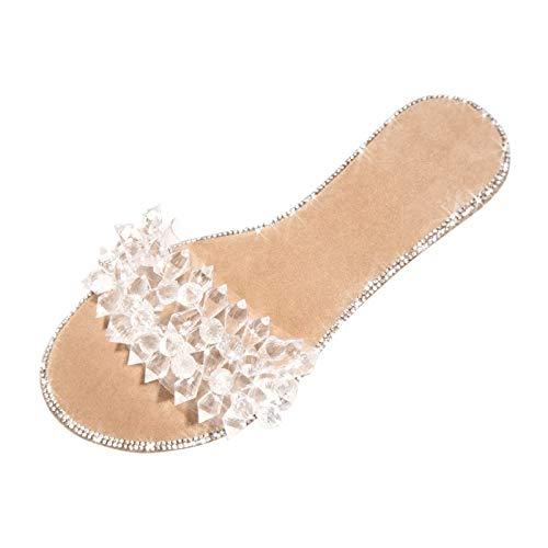 ciabatte peluche scarpe espadrillas plantar donna scarpe ortopediche sandali platform donna ciabatt moda (H05-Khaki,40)