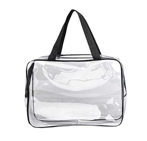 Vi.yo PVC voyage en plastique cosmétique sac maquillage transparent sac clé accessoires sac de rangement pour les femmes 30 x 22 x 10 cm (style 2)