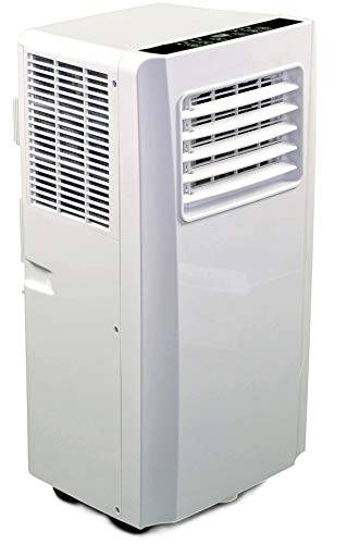 JUNG AIR TV04 mobiles Klimagerät mit Fernbedienung + Abluft-Schlauch - 2,6 KW /9000 BTU - STROMSPAREND, GERÄUSCHARM -75m³ Raum Kühlung, Klimaanlage mobil leise, weiß