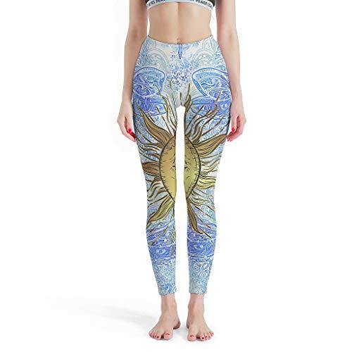 Dofeely dames Dragonfly zonnedruk, yogabroek broek hoge taille capri-loopbroek sport training joggingbroek Muay Thai dier