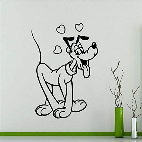 Muursticker, pluto rijst liefde 58x83cm pvc diy art home decor voor kinderkamer woonkamer muurtattoo verwijderbare douane kantoor verjaardagscadeau