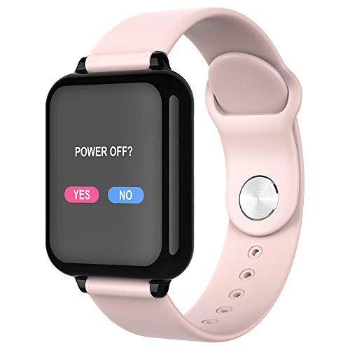 Yumanluo Pulsera Inteligente de Actividad,Pulsera Inteligente a Prueba de Agua, Reloj Deportivo con Control de presión Arterial y frecuencia cardíaca-Rosa,Podómetro Monitores de Actividad Impermeable