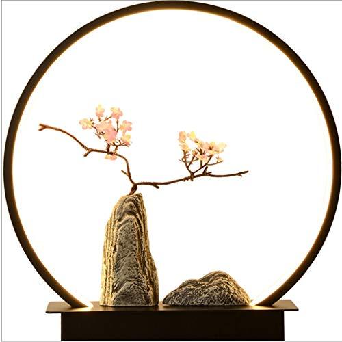 Lámpara Escritorio Estilo lámpara de Mesa de Noche Nuevo Chino Dormitorio lámpara de Mesa de Estilo Chino Zen Retro decoración de la Resina de la Sala Salón de té de Hierro Lámpara de Mesa Lampara de