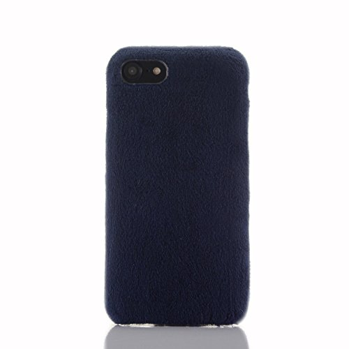 SevenPanda Compatible con Huawei P30 Phone Caso, para Hua WEI P30 Funda, Ultra Slim Ultra Thin Piel de Conejo Lindo Caso Invierno Cálido Conejo Hecho a Mano Suave Fluffy Funda - Azul Oscuro