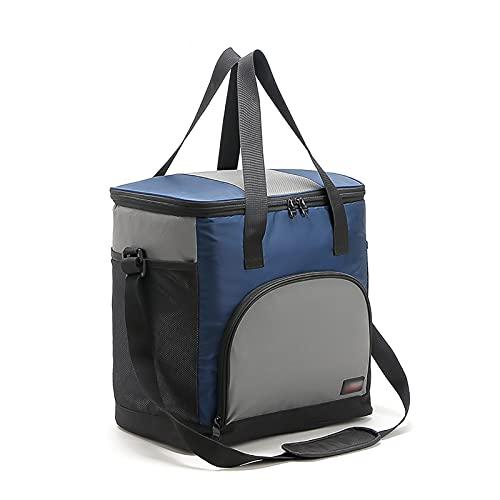 Bolsa de picnic de gran capacidad, cestas de picnic de 25 l, termo con aislamiento, cajas frías, caja de almuerzo más fría, congelador a prueba de fugas, bolsa más fresca para acampar ( Color : Blue )