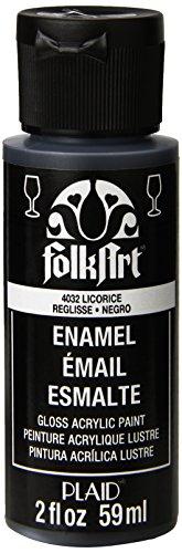 Folk Art Emaille-/Bratenspritze Farbe Lakritz