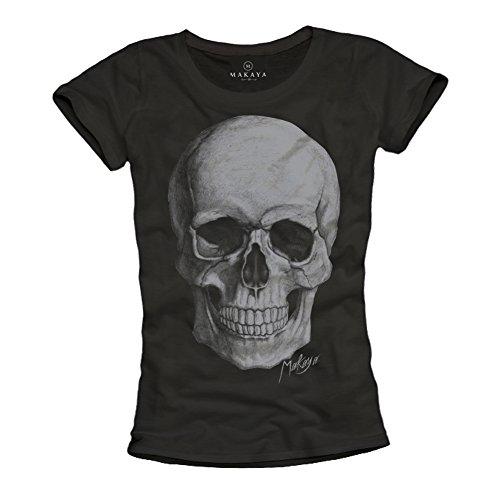 Camisetas Calaveras Mujer - Negra M