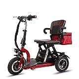 WNN-Patinetes eléctricos La Movilidad eléctrica Scooters, 3 Ruedas Scooter Plegable Ligero de energía portátil Scooter - Soporte de Largo Alcance (30-50km) - Scooters eléctricos for Adultos Patine