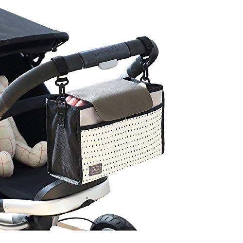 Sac de rangement multifonctionnel pour organisateur, sac d'accessoires pour poussette (gris)