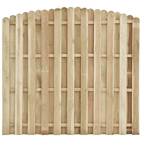 vidaXL Kieferholz Imprägniert Zaunelement Gartenzaun Sichtschutzzaun Zaun Windschutzzaun Lamellenzaun Sichtschutz Windschutz Zaunfeld 180x(155-170) cm