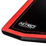 NITRO CONCEPTS D16E Gaming Tisch - Schreibtisch - Computertisch - 1600x800mm - elektrisch höhenverstellbar - Carbon Red (Rot) - 2