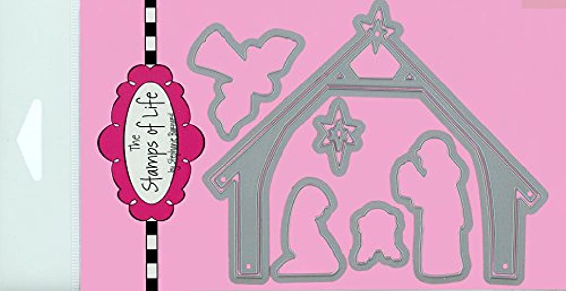Religious Christian Metal Die Cuts for Scrapbooking and Card-Making by The Stamps of Life - Nativity Die Cuts