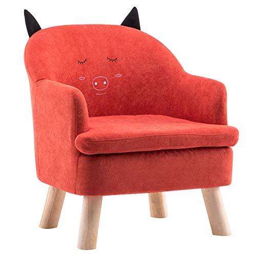 HAKN Canapé pour enfant, canapé bébé dessin animé (Couleur : Red, taille : B)