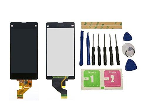 Flügel per Sony Xperia Z1 Compact Mini D5503 Schermo Display LCD Display Nero Touch Screen Digitizer ( Senza Frame ) di ricambio e Strumenti Gratuiti
