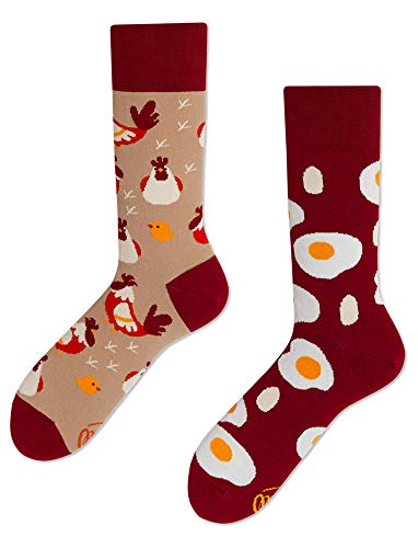 Many Mornings unisex Socken – Egg and Chicken - (39-42)