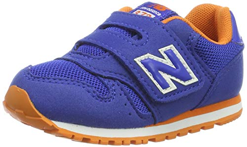 New Balance Unisex-Kinder 373 Sneaker, Blau (Team Royal/Varsity Orange BO Black), 25 EU