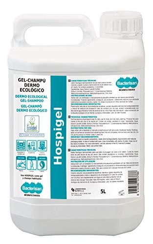Bacterisan Hospigel 5L | Gel champú dermoecológico protector | Cremoso y espumante para uso diario | producto Ecolabel 5600 g