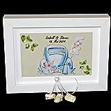 Geld Geschenk Bilderrahmen zur Hochzeit personalisiert