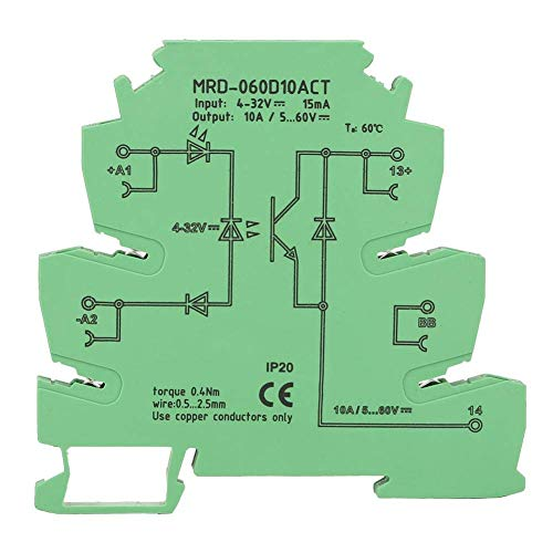 L-YINGZON Relay MRD-060D10ACT 4-32VDC 5-60VDC NO Ultra-Delgado de 6,2 mm sólido DC de Entrada del módulo de relé Estado