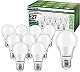 Ampoule LED E27, 9W équivalent Ampoule Halogène 60W, 800LM, Blanc Froid 6000K, A60 Culot Edison à vis, Lot de 10