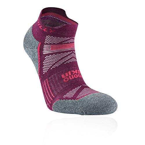Hilly Damen Supreme Socklet Socken, Elderberry/Grey Marl, Größe S
