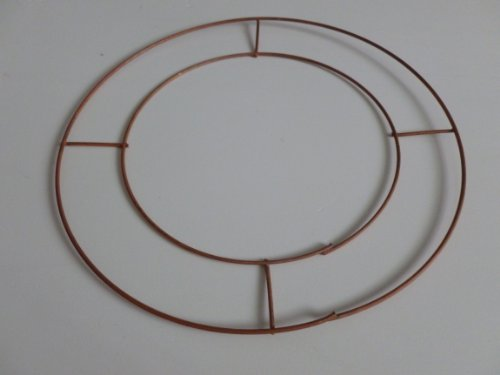 2 x 10' Wire Flat Round Copper Wreath Rings. Decoration / Floral Tributes / Floral Displays