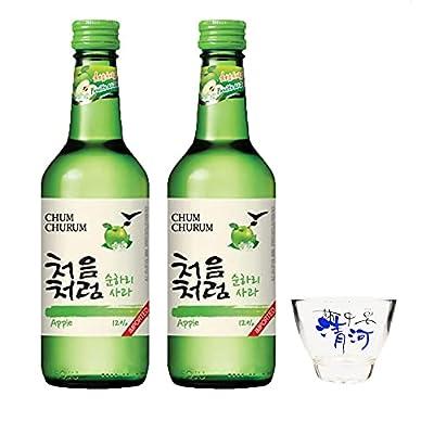 Lotte Chum Churum Soju - Apple Flavour 12% Alc 360ml (Pack of 2)