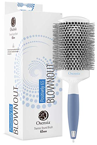 Professional Round Brush for Blow Drying - Extra-Small Ceramic Ion Brush for Sleek, Salon Blowout - Lightweight Hair Brush by Osensia, 1 Inch
