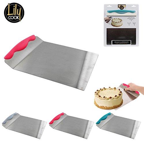 Pelle à gateaux Inox 20,5 x 20 cm Transport patisserie biscuits tarte palette cuisine